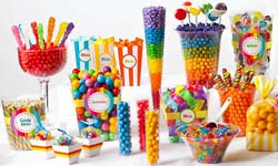 Sweet 16 birthday party candy buffet